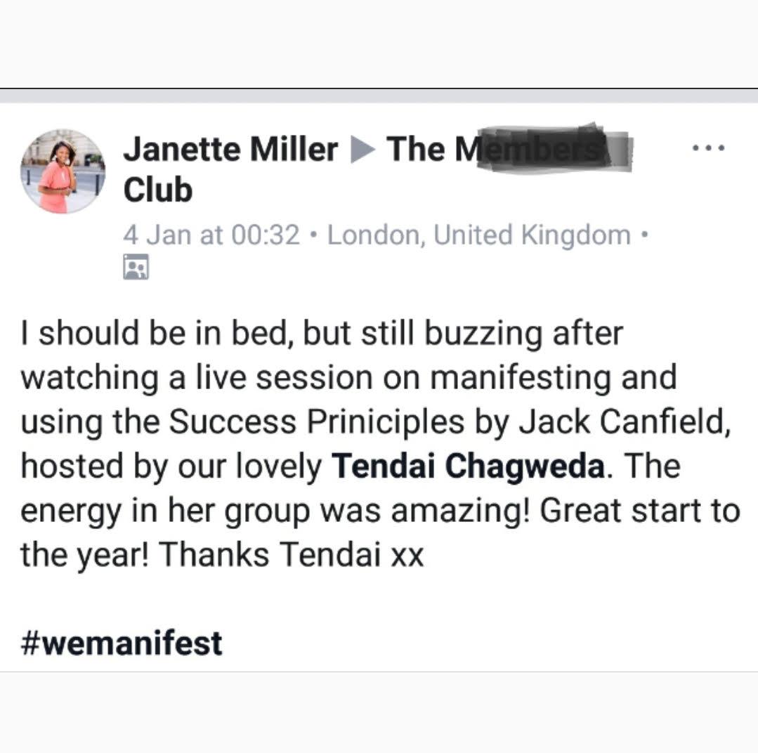 Janette Vision Board Testimonial