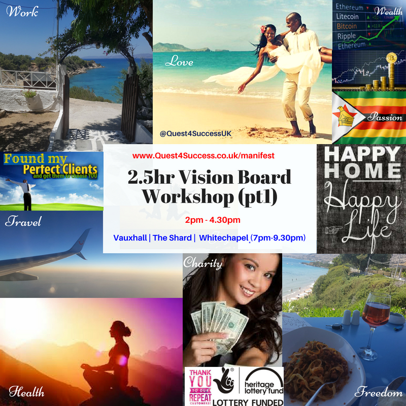 Vision Board workshops Summer 2018